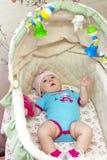 女婴她的藏品孤立可爱的母亲我的小孩白色 库存照片
