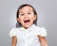 女婴尖叫 免版税图库摄影