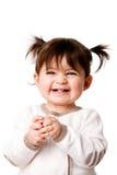 女婴愉快的笑的小孩 免版税库存照片