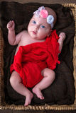女婴新出生的纵向 免版税库存照片