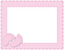 女婴方格花布框架 免版税库存图片