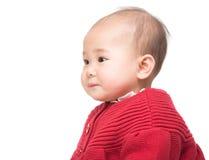 女婴旁边档案  免版税库存图片