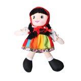 女婴的五颜六色的手工制造玩偶 免版税库存图片
