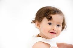 女婴笑的笑 库存图片