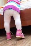 女婴英尺 库存照片