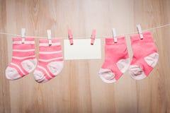 女婴袜子 免版税图库摄影