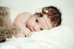 女婴, 1个月 库存照片