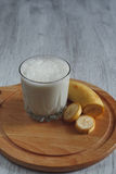 奶昔用香蕉 库存照片