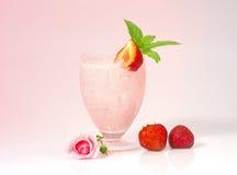 奶昔草莓 图库摄影