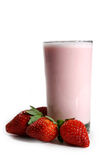 奶昔草莓 免版税图库摄影