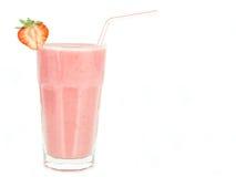 奶昔草莓 免版税库存照片