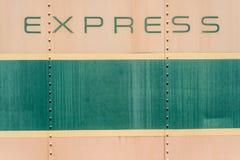 奶油和绿色老金属背景纹理 库存照片