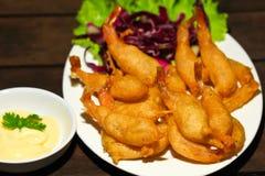 奶油油煎的调味汁虾 免版税库存图片