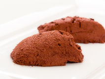 奶油甜点巧克力 免版税库存照片