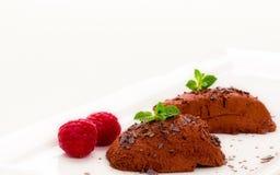 奶油甜点巧克力 库存图片