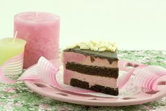 奶油甜点莓 免版税库存图片