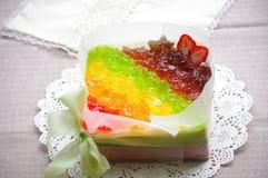 奶油甜点 免版税库存图片