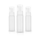 奶油的,泡沫,香波化妆产品 在空白背景 免版税图库摄影