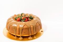 奶油硬糖Bundt蛋糕 免版税库存图片