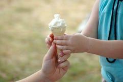 奶油色产生的冰 库存照片