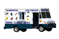 奶油色冰卡车 免版税图库摄影
