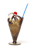 奶油色冰圣代冰淇淋 库存图片