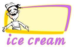 奶油色冰工作系列 库存照片