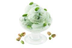 奶油色冰开心果 免版税库存图片