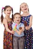 奶油色冰开玩笑三 免版税库存照片