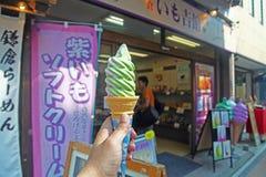 奶油色冰日本人存储 库存照片