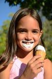 奶油色冰时间 免版税库存照片