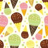 奶油色冰模式 库存图片