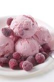 奶油色冰莓 库存图片