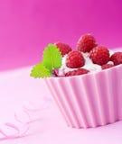 奶油色冰薄菏莓 库存图片