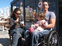 奶油色冰轮椅 库存图片