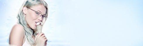奶油色冰 免版税库存照片