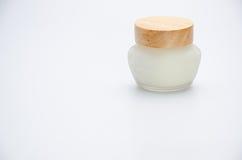 奶油色包装在白色 免版税库存图片