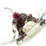 奶油色可口冰圣代冰淇淋 库存图片