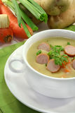奶油色土豆汤 免版税库存图片