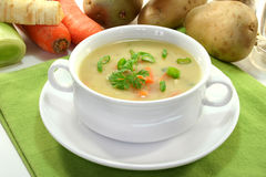 奶油色土豆汤 图库摄影