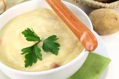 奶油色土豆汤 库存照片