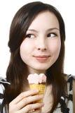 奶油色女孩冰 免版税库存图片