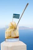 奶油色希腊冰 库存照片