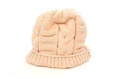 奶油色帽子冬天 库存图片