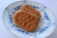 奶油色曲奇饼 免版税库存图片
