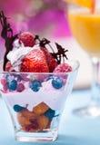 奶油色果子冰沙拉 免版税库存图片
