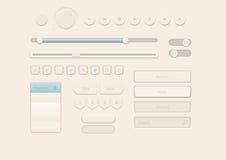 奶油色样式用户界面元素 免版税库存照片