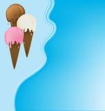 奶油色框架冰 免版税图库摄影