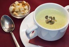 奶油色汤用南瓜 免版税图库摄影
