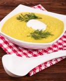 奶油色汤蔬菜 免版税库存照片